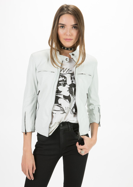 R13 Women's Cafe Racer Cropped Jacket