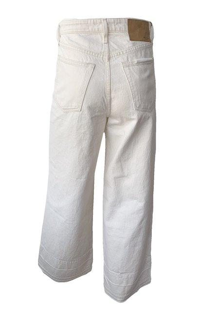 Rag & Bone Maya High Rise Ankle Wide Leg Jeans - ecru