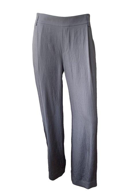 Wide Leg Pull On Pants - Steel Blue/Grey