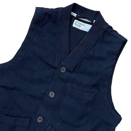 Universal Works Brixton Wool Waistcoat - Navy