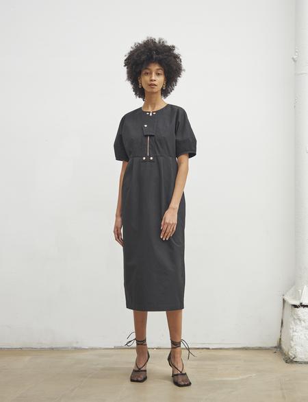 Maison De Ines FRONT LOCKED DETAIL DRESS - black