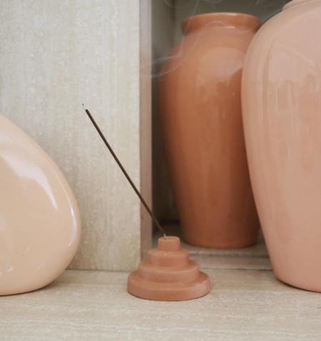 Yield Ceramic Meso Incense Holder - Terra