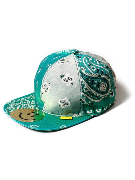 Kapital Cotton Bandana Patchwork Baseball Cap - Green