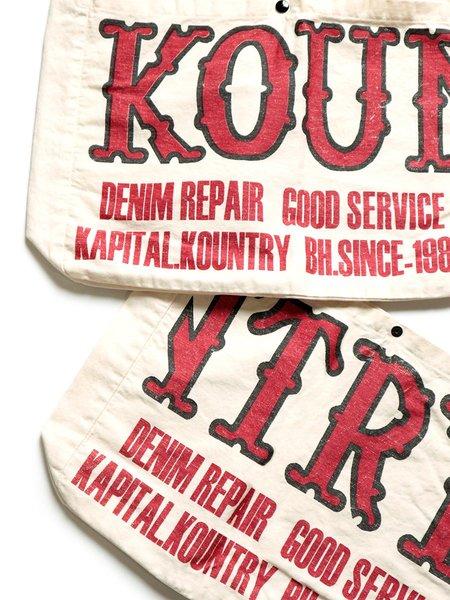 Kapital Kountry Cotton Twill Kountry Factory Book Bag - Natural
