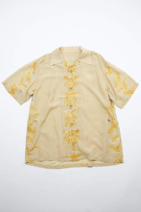 Kapital KOUNTRY REMAKE Silk Rayon EAGLE JEWEL Aloha Shirt - Ecru