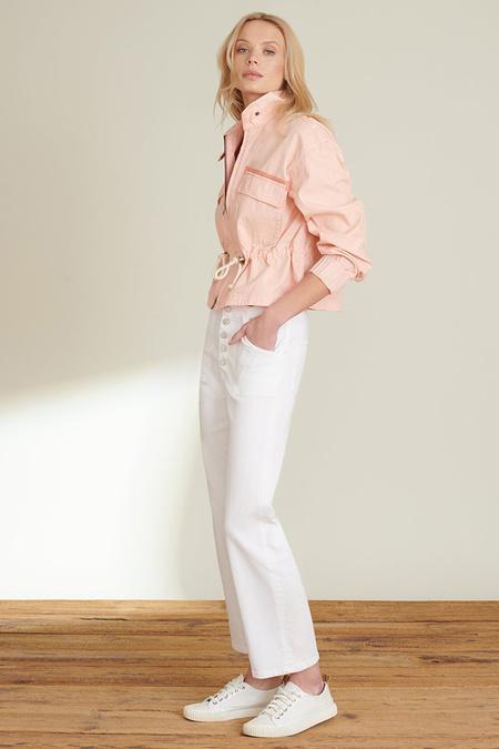 Veronica Beard Roz Drawstring Peplum Jacket - Blush