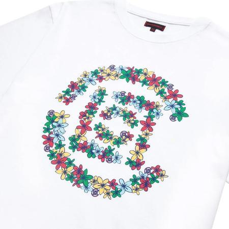 Clot Flowers Logo Tee - White