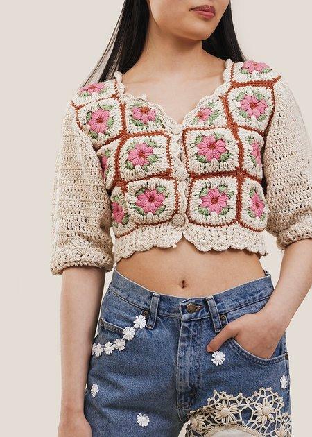Tach Clothing Nuria Cardigan - beige/brown/pink