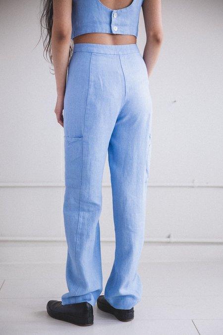 Paloma Wool LINEN ROSS PANTS - BLUE