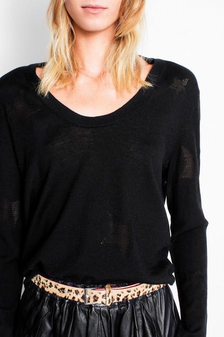 Rina Star Sweater - Black