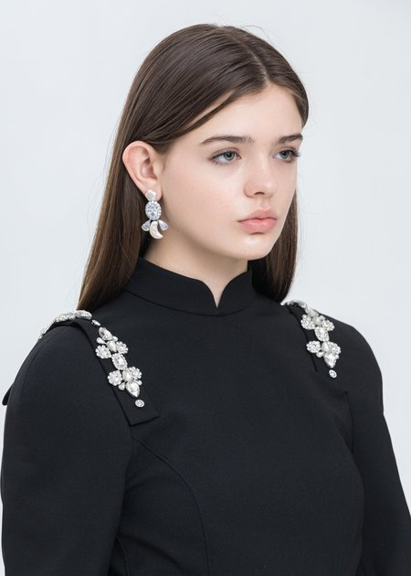 Shushu/Tong Star and Moon Pearling Left Earring - Silver