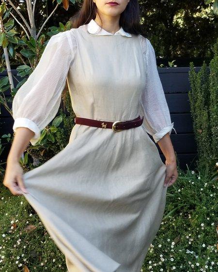 Vintage Linen Easy Dress - Oat