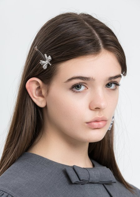 Shushu/Tong Straw Bow Hairpin - Silver