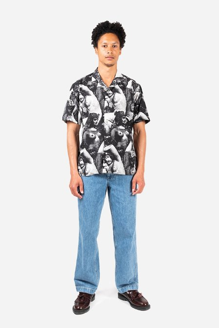 Gitman Bros. Ancient Beauty Camp shirt - Black/White