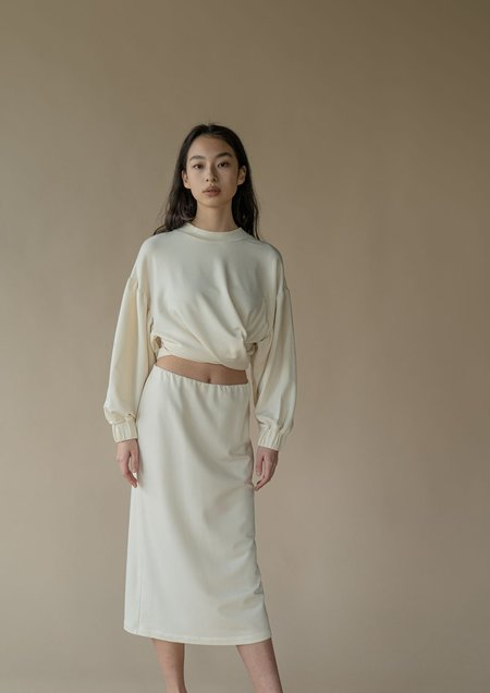 Vestige Story Discourse Skirt - Porcelain