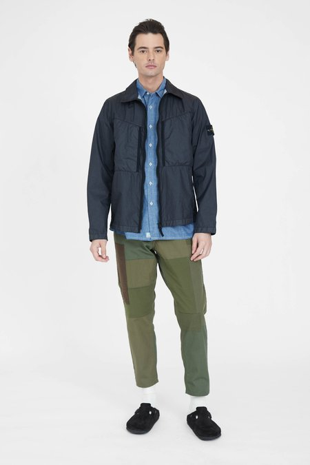 FDMTL Boro Patchwork Pants Rinse - Khaki