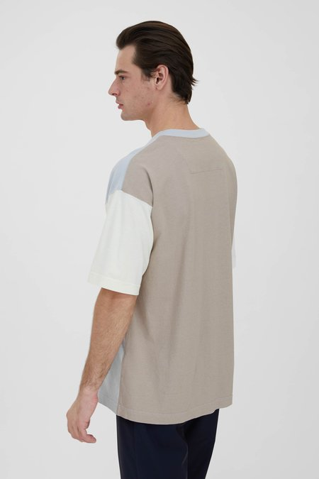 TS(S) Dry Touch Cotton Cupra Color Panel Oversized T-Shirt - Light Grey