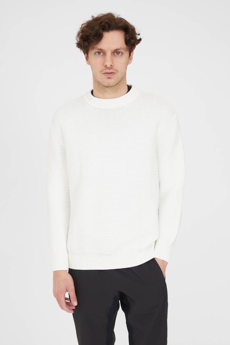 PRESIDENTS P's Cotton Punto Links Crew Neck sweater - Natural
