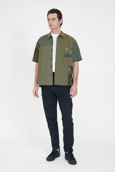FDMTL Patchwork S/S Rinse Shirt - Khaki