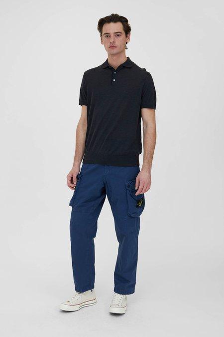 PRESIDENTS Knit Giza Cotton Polo - Charcoal