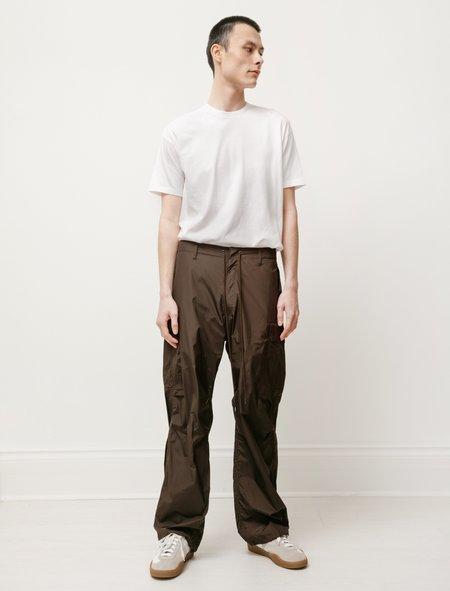 Auralee High Count Light Nylon Fatigue Pants - Dark Brown