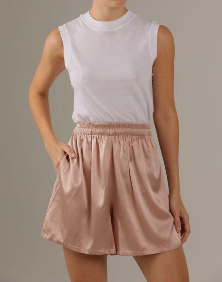 Parentezi Silk Shorts - Blush