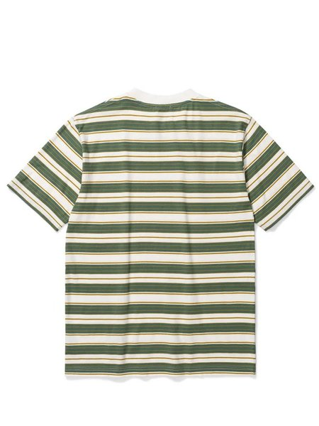 Norse Projects Johannes Multi Stripe T-Shirt - Moss Green