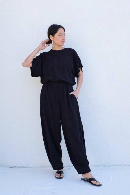 Black Crane Easy Jumpsuit - Black