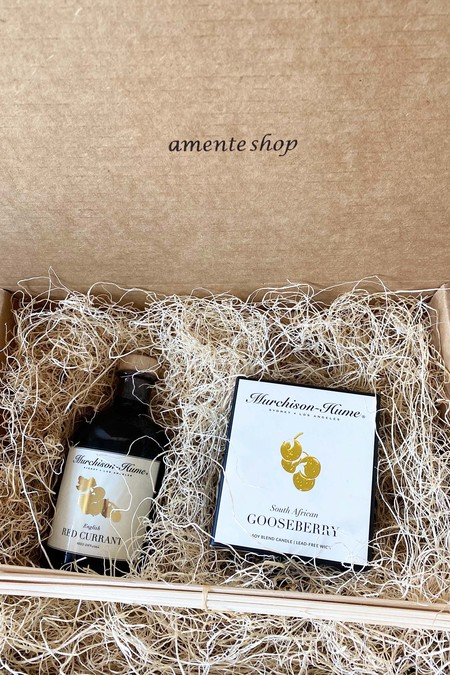 English Red Currant Reed Diffuser & South African Gooseberry Candle Gift box set