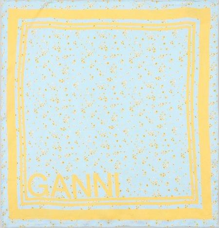 Ganni Silk Twill Scarf - Corydalis
