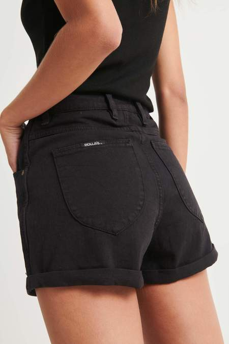 Rollas Jeans Duster Shorts - Black