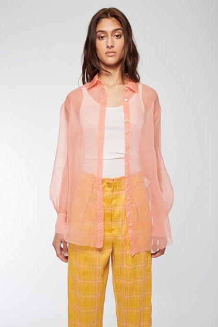 Forte Forte Organza Silk Shirt - MANDARINO 0128