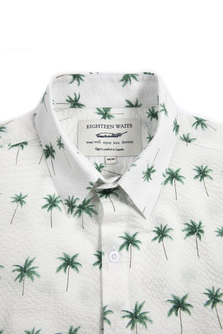 18 Waits DYLAN Short Sleeve - White Palms
