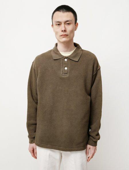 Paa LS Polo Sweatshirt - Deep Olive Drab