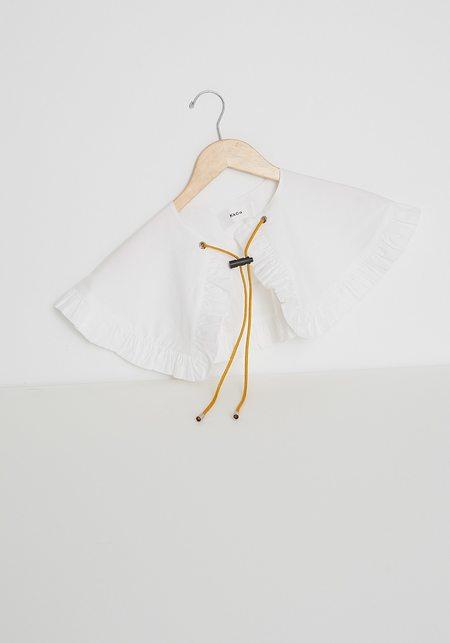 KkCo Detached Prairie Collar - White