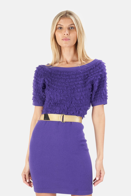 3.1 Phillip Lim 3/4 Dolman Sleeve Crewneck Dress - Violet