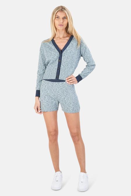 NAADAM V Neck Cardigan Sweater - Light Blue