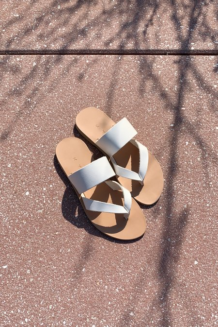 KYMA Peristera Thong Slip On Sandals - White