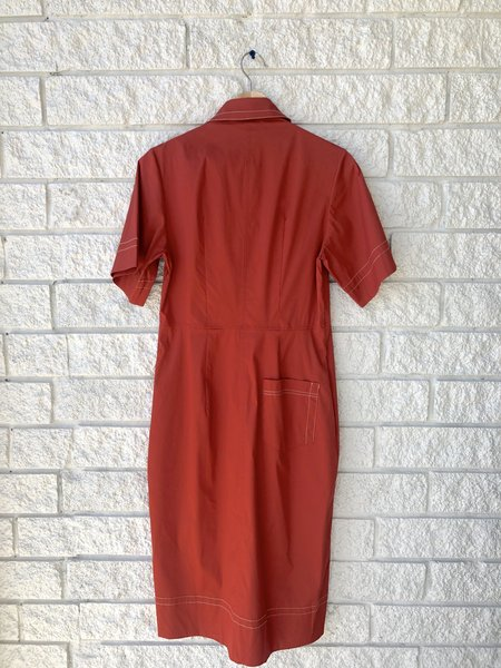 Lee Mathews Tula Tulip Shirtdress - Pomegrante