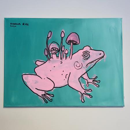 Dhalia Raz Pink Frog Art