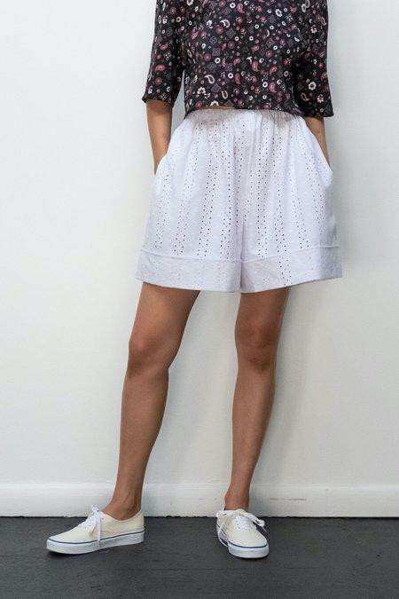 Kurt Lyle KLXTV Wynn Shorts - White Embroidered Eyelet