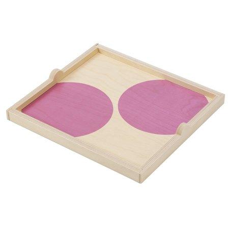 Wolfum Square Tray - Lavender Dot