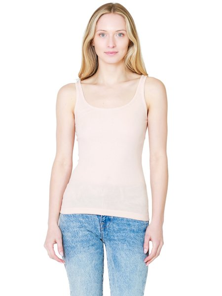 Vince Scoop Neck Camisole - Rose Water