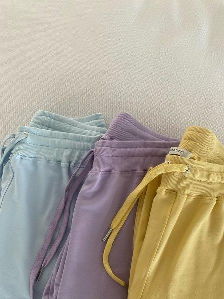 Parentezi High Rise French Terry Sweatpants - Lilac
