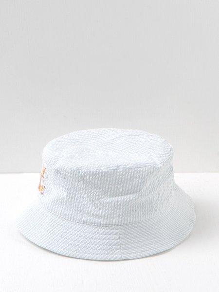 Maison Kitsuné Chillax Fox Bucket Hat - Blue Stripe