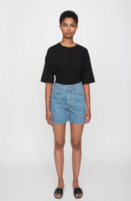 Just Female Denim Star Shorts - Light Blue