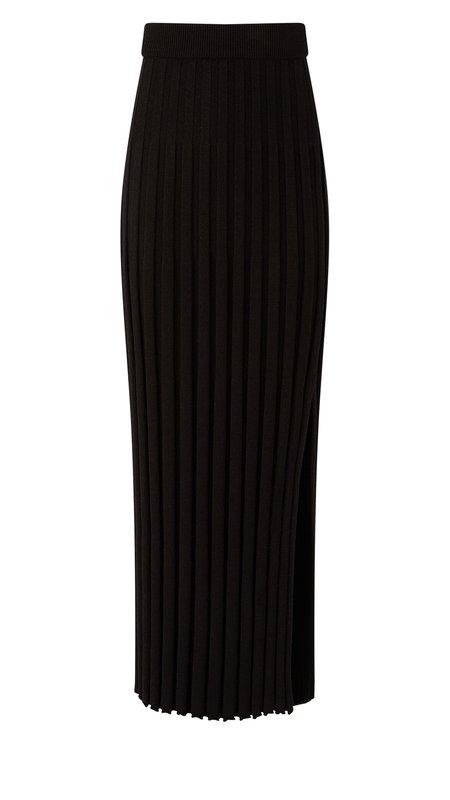Joseph Textured Rib Skirt - Black