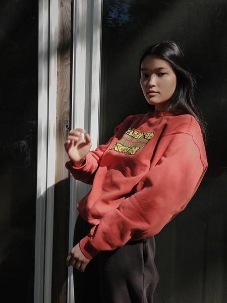 UNISEX Braindead Universal Movement Sweatshirt - Terracotta