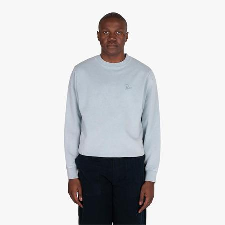 by Parra Signature Logo Washed Out Crewneck sweater - Dusty Blue