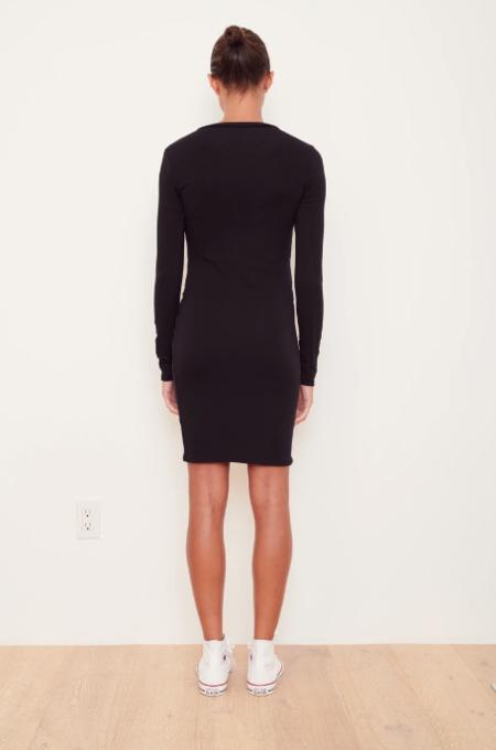 Stateside Rib Side Twist Mini Dress - black
